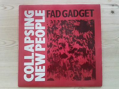 "Fad Gadget - Collapsing New People - 7"" Single Vinyl - Mute Records - 1983"