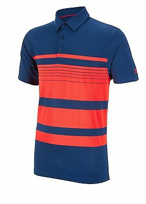 Under Armour Golf ColdBlack Even Polo Shirt Navy/Red Extra Large