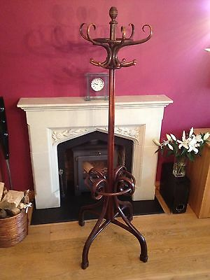 Antique Thonet Style Bentwood Hat And Coat Stand Old Vintage Beech Wood.