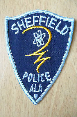 Patches: SHEFFIELD ALA POLICE PATCH (NEW,apx.4x3 inch)