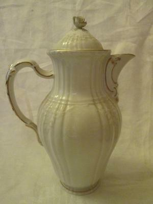 Large KPM (Berlin) Rocaille Pattern 2 Litre Coffee Pot, Gilt Highlights