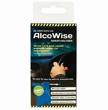 Disposable  Alcohol Breathalyser Tester Kit Police Car Think Don't Drink & Drive