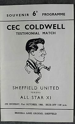 Sheffield United Testimonial Cec Coldwell 1966
