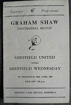 Sheffield United Graham Shaw Testimonial