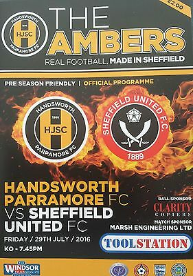 HANDSWORTH PARRAMORE v SHEFFIELD UNITED 2016