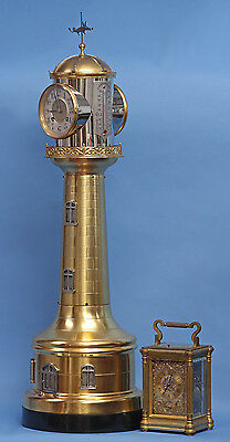 Tall Antique French Industrial Lighthouse Automaton Clock