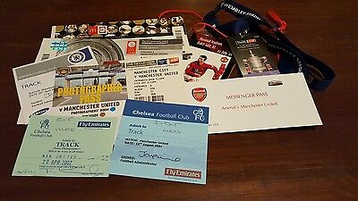 Manchester united ticket stubs