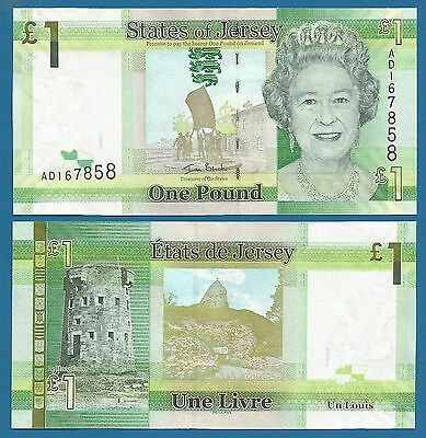 States of Jersey 1 Pound  P 32 UNC Low Ship Combine FREE (P-32a) Queen Elizabeth