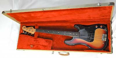 "Vintage Fender 1974 Precision  Bass ""fretless"""