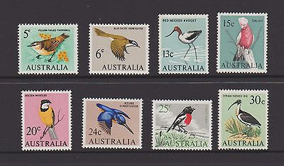 Australia 1966 Birds set of 8, fine, clean, Mint Never Hinged.