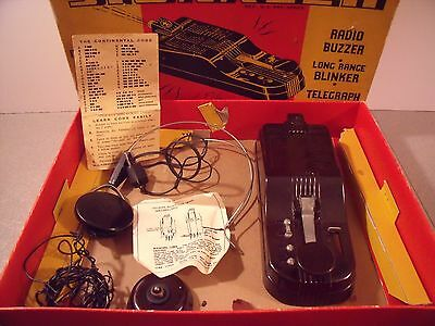 "VINTAGE Boy Scouts RADIO CODES ""SIGNALER""  SET FLERON CO. # 1213 in box"