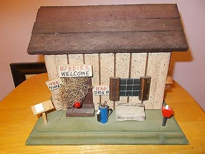 Wooden Birdhouse with Golf accessories   So cute  Estate find