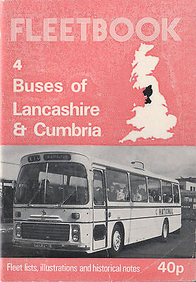 1975 Fleetbook 4 Buses Of Lancashire & Cumbria - See Scan #2 For Operators