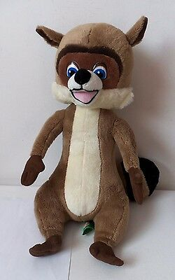 Dreamworks Over The Hedge RJ Racoon Wild Animal Plush Soft Toy Talking Figure