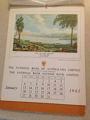 1963 The National Bank Of Australia Calendar With Historical Notes