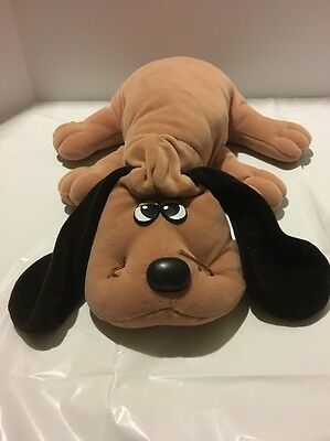 "TONKA POUND PUPPIES Puppy Plush BROWN Ears 18"" Large Vintage 1985"