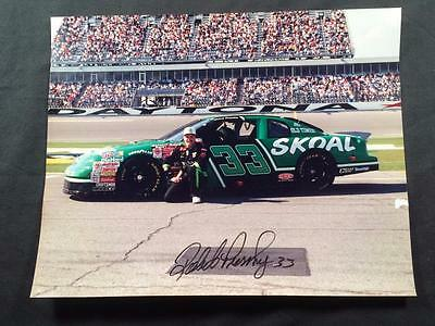 Robert Pressley 33 Skoal NASCAR Race Car Original Signature Autograph Photo A163