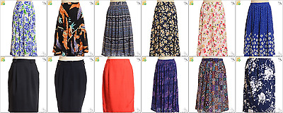 JOB LOT OF 27 MIXED VINTAGE SKIRTS - Mix of Era's, styles and sizes (21256)