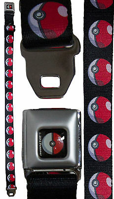 Pokemon Youth Seatbelt Belt 20 - 36 Inches - Standard Pokeball