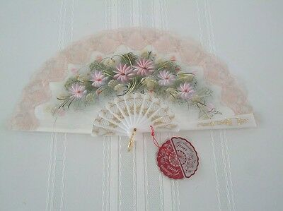 Vintage Spanish Hand held Painted Designer Fan Victorian Abanicos Giner Spain