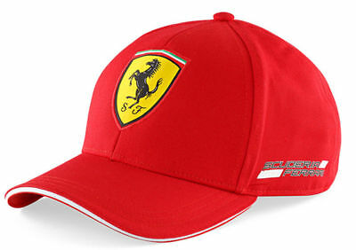 NEW Official Kids Classic Red Ferrari Cap