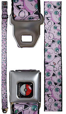 Pokemon Youth Seatbelt Belt 20 - 36 Inches - Jigglypuff Collage