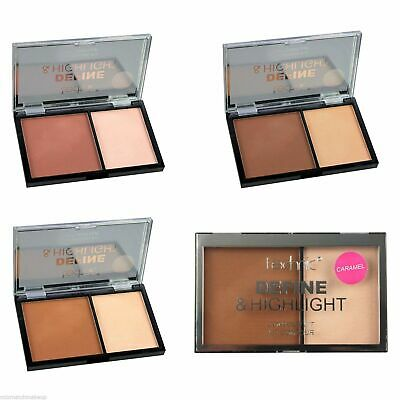 Technic Face Contour Kit Pressed Powder Bronzer Highlighter Contouring Palette
