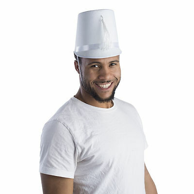 Adult White Marching Band Hat