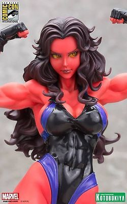 Kotobukiya Marvel Red She Hulk Sdcc Exclusive Bishoujo Statue ~Brand New~