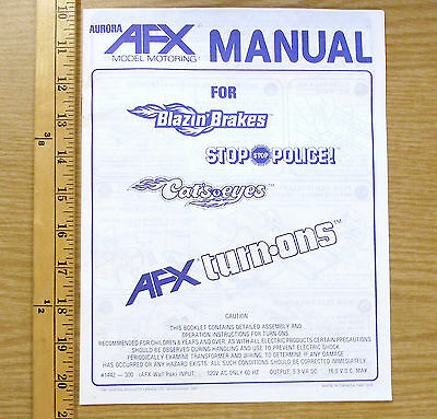 22pg 1981 Aurora AFX Speed Shifter Blazin Brakes Overhead Slot Car MANUAL GUIDEs