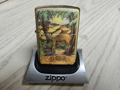 Camel Joe Zippo-2 Sided Night and Day Solid Brass RARE! Fired