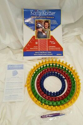 Knifty Knitter Round Loom Series   -  Ideal for Bulky Yarn   4 Looms!   *NEW*