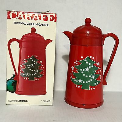 Waechtersbach Christmas Carafe Coffee Tea Beverage Tree Red Plastic Thermos