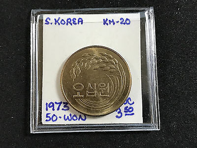 1973 South Korea 50 Won Km#20 Unc