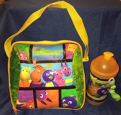 Backyardigans Soft Lunch Box Pail Bag & Snack Thermos Drink Bottle W/ Strap NEW!