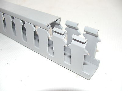 """1""""x 2""""x 72"""" HT Open Slot Wiring Duct Cable Raceway Trunking Panduit Style"""