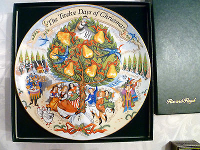 Fitz and Floyd 12 Days of Christmas Collector Plate, Limited Ed Numbered 33/5000