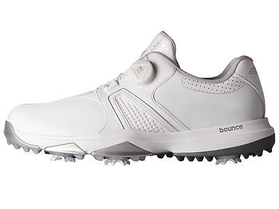 Adidas 360 Traxion BOA Golf Shoes - Feather White
