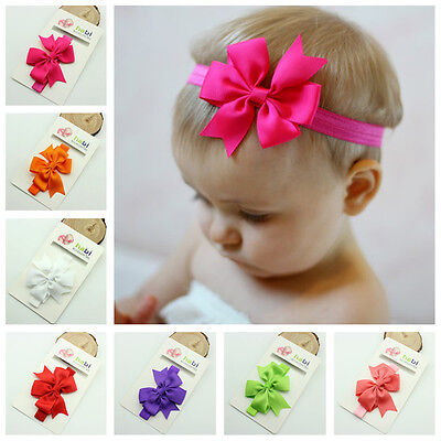 15PCS Headband Kids Girl Baby Toddler Bow Flower Hair Band Accessories Headwear