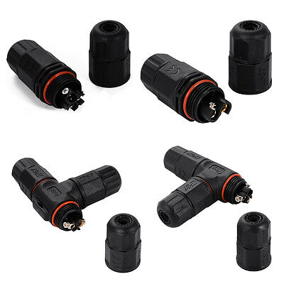 Waterproof Electrical Cable Wire 2-pin/3-pin Connector IP67 for Outdoor Using