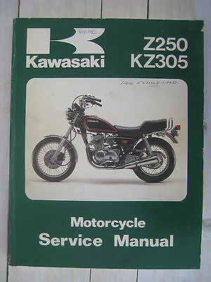 Kawasaki Z250 & Kz305 Motorcycle Service Manual