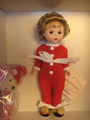 "New! Mib! Madame Alexander Waiting Up For Santa 8"" Doll 37085 Gorgeous!"