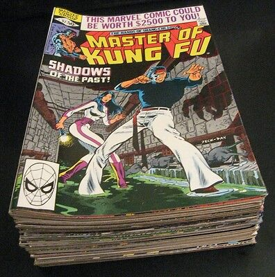 Wow! MEGA-RUN of *34* MASTER OF KUNG FU: #92-125 (Last Issues) VF+ Bright/Glossy