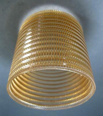 Retro/vintage 60s-70s bronze plastic ceiling light shade space-age/kartell-era