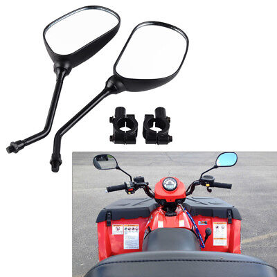 M10 Universal Motorcycle ATV Rearview Wing Mirror with Mount Adapter Clamp Set