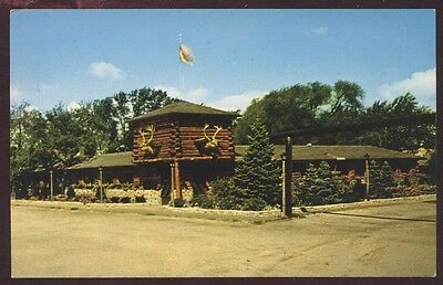 Rustic Manor Log Cabin Gurnee Illinois Cocktail Restaurant Postcard