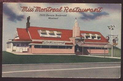 Montreal Miss Canada Vintage Restaurant Postcard