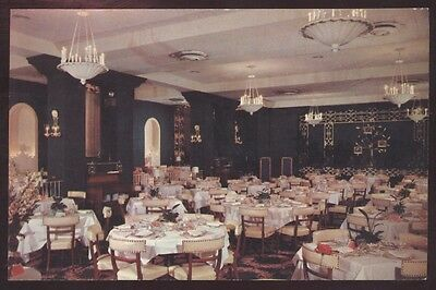 Embassy Room Warwick Restaurant Interior Philadelphia Pennsylvania Postcard