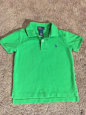 Ralph lauren Green Short Sleeve polo Shirt Boy's Size 4
