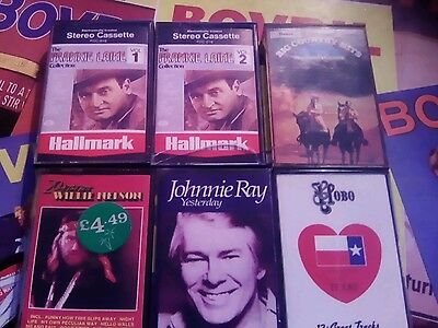 6 X Country Hits Cassette Tapes Albums